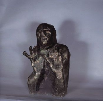 Eugene DODEIGNE Figure erect hands , circa 1970 Bronze H: 65 cm