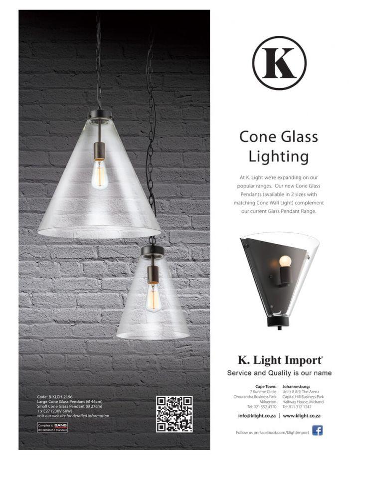 <p><b>Cone Glass Lighting</b><br /> Garden & Home<br /> Woman & Home</p>
