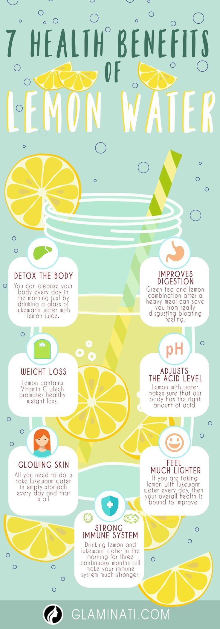 Health Benefits of Lemon Water ★ See more: http://glaminati.com/health-benefits-of-lemon-water/