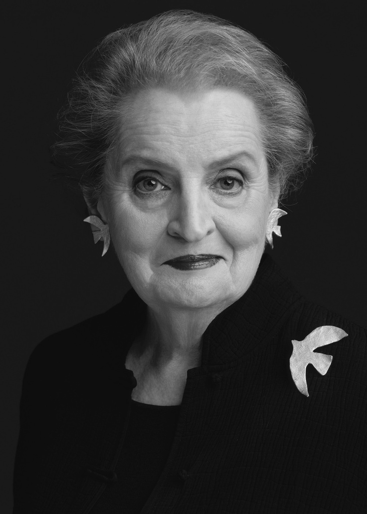 Madeline Albright...First woman Secretary of State, 1996.