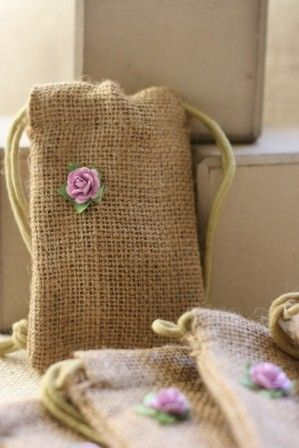 jute burlap gift bags SmALL LaVeNdEr x5, wedding favor bags, gift favor bags for parties, soaps, candies, candles