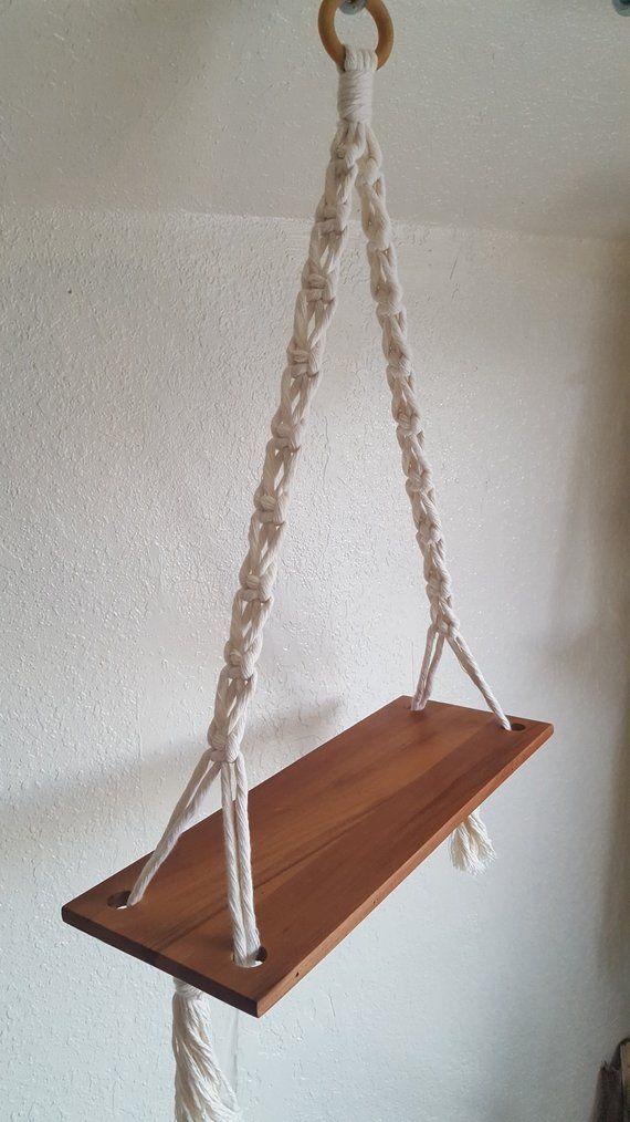 Handmade Macrame Hanging Shelf – Simple Design