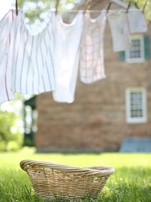 ¡Nos encanta secar la ropa al aire libre!