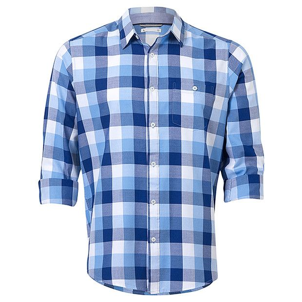 Keep your weekend looks smart, with a casual edge, by incorporating the check shirt. Crafted in a cotton rich composition, featuring single buttoned chest pocket and bright hues. Best styled with chinos and lace-up shoes.