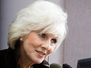 NPR's Diane Rehm. Another one of my radio heroes! I learn more about politics and current issues from her than I do at school! I want to be very articulate and insightful the way she is. And she seems very nice! Here is a link to her show: http://thedianerehmshow.org/