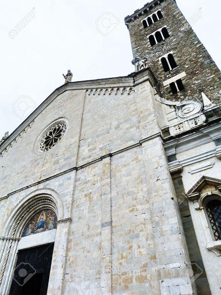 Italia, Sarzana, Facciata Della Della Cattedrale Stock Photo, Picture And Royalty Free Image. Pic 14720007.