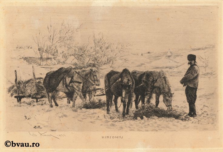 "Theodor Aman, Kirighin, 1875. Imagine din colecțiile Bibliotecii ""V.A. Urechia"" Galați."