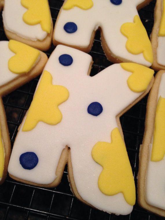 Personalized Cookies Monogram Cookies Letter by CookieTrayCookies