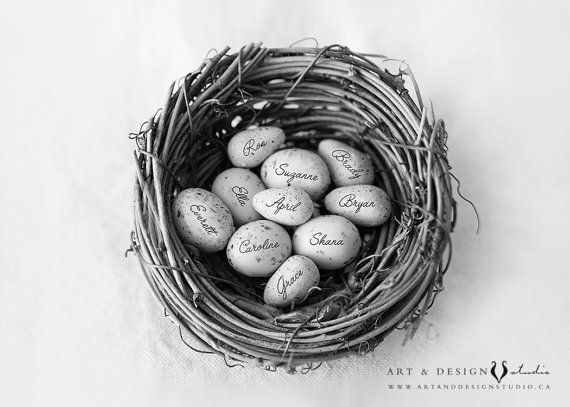 Unique Grandmother Gift - Personalized Grandma Gift - Family Name Nest Art - Grandmother Birthday Gifts