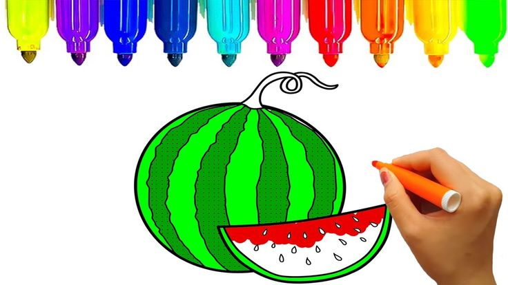 How to draw fruits, Fruits coloring pages, Learn colors for kids | KidsT...