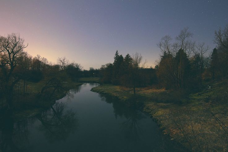 The Night Creek - An old creek that runs beside a 100 year old flour mill in Arva, ON.  Taken around midnight