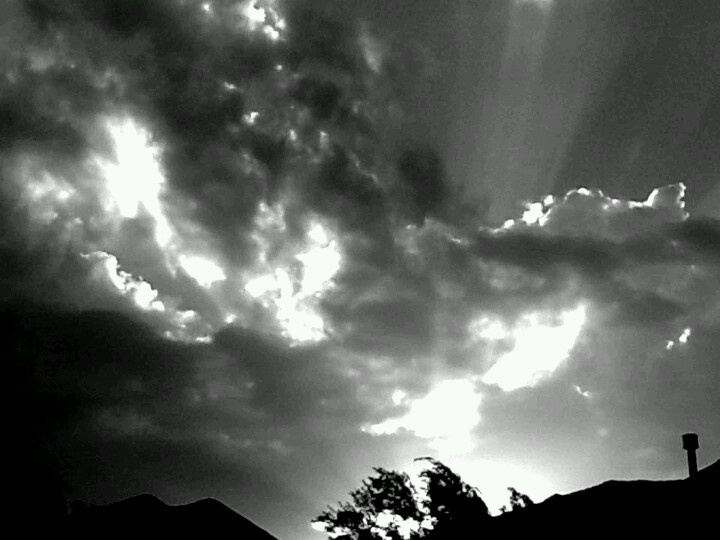 This is a picture i took above our home