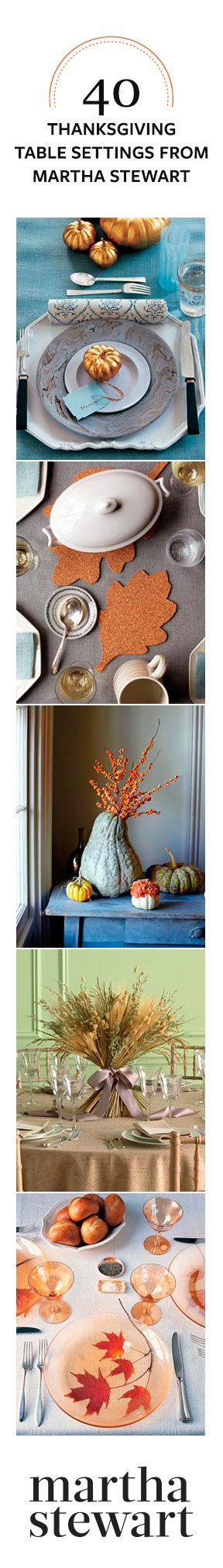 40 Thanksgiving Table Settings from Martha Stewart