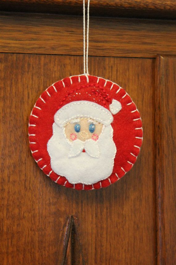 Santa Christmas Ornament. by PuddleducklaneAgain on Etsy