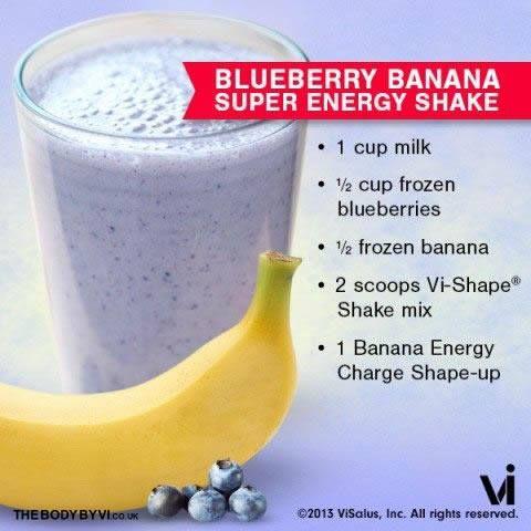 "Body by Vi Shake Recipe ~ ""Blueberry Banana Super Energy"""