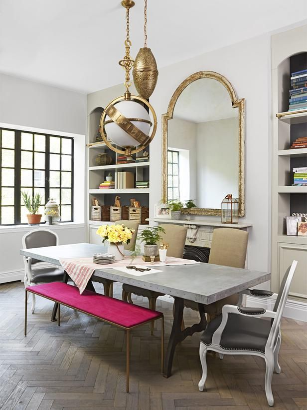 Baño Turco Arquitectura:This elegant dining room is from none other than Genevieve Gorder #nyc