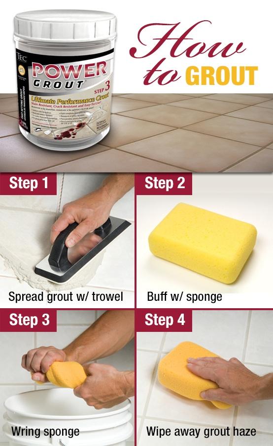 Bathroom grouting tips