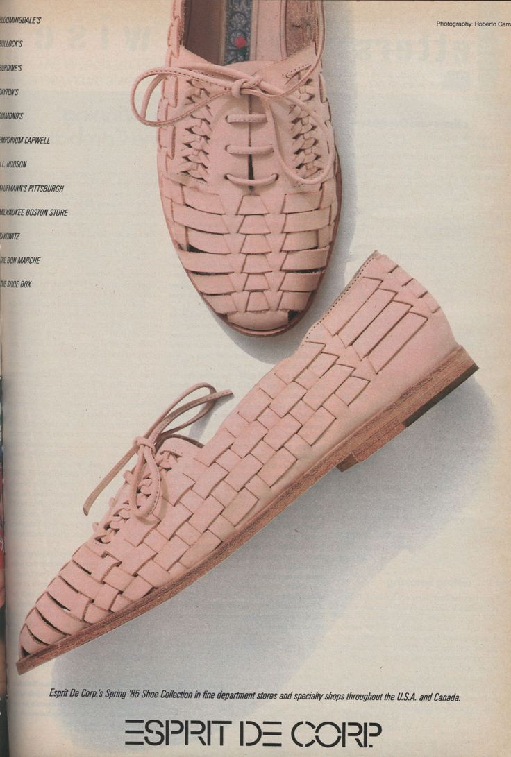 Esprit Ad 1985.  Totally forgot about these.  I ad a white pair.