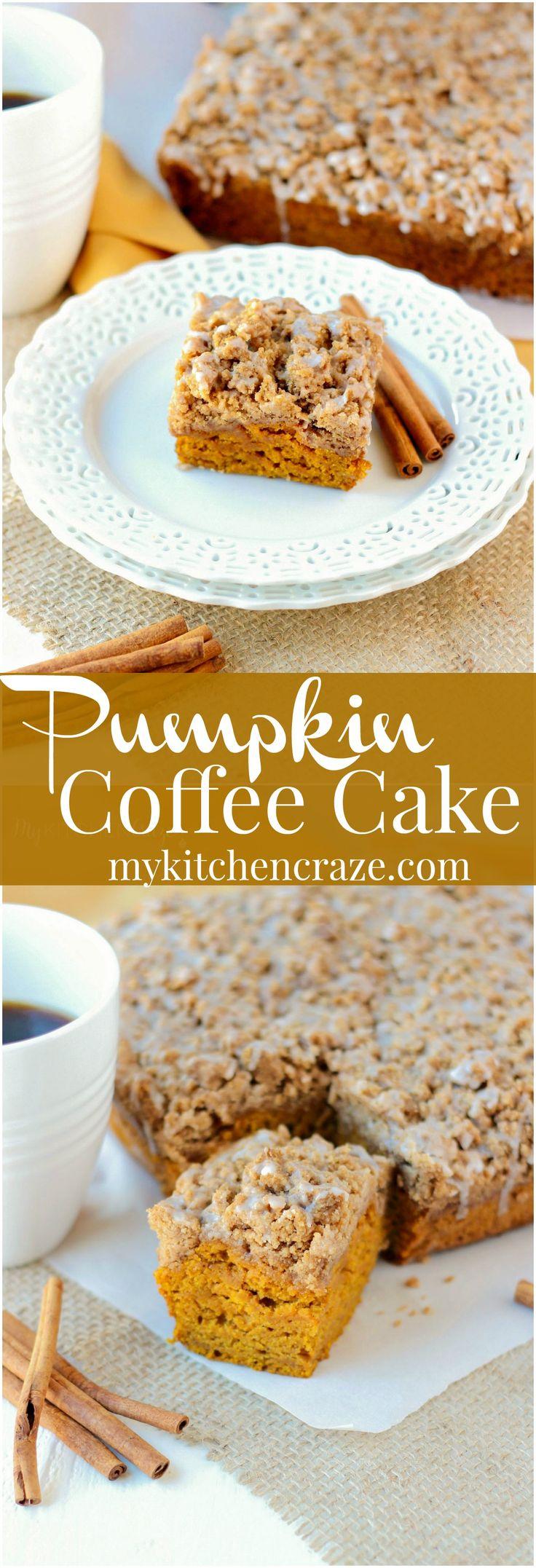 Pumpkin Coffee Cake ~ mykitchencraze.com ~ Delicious and moist, this Pumpkin…