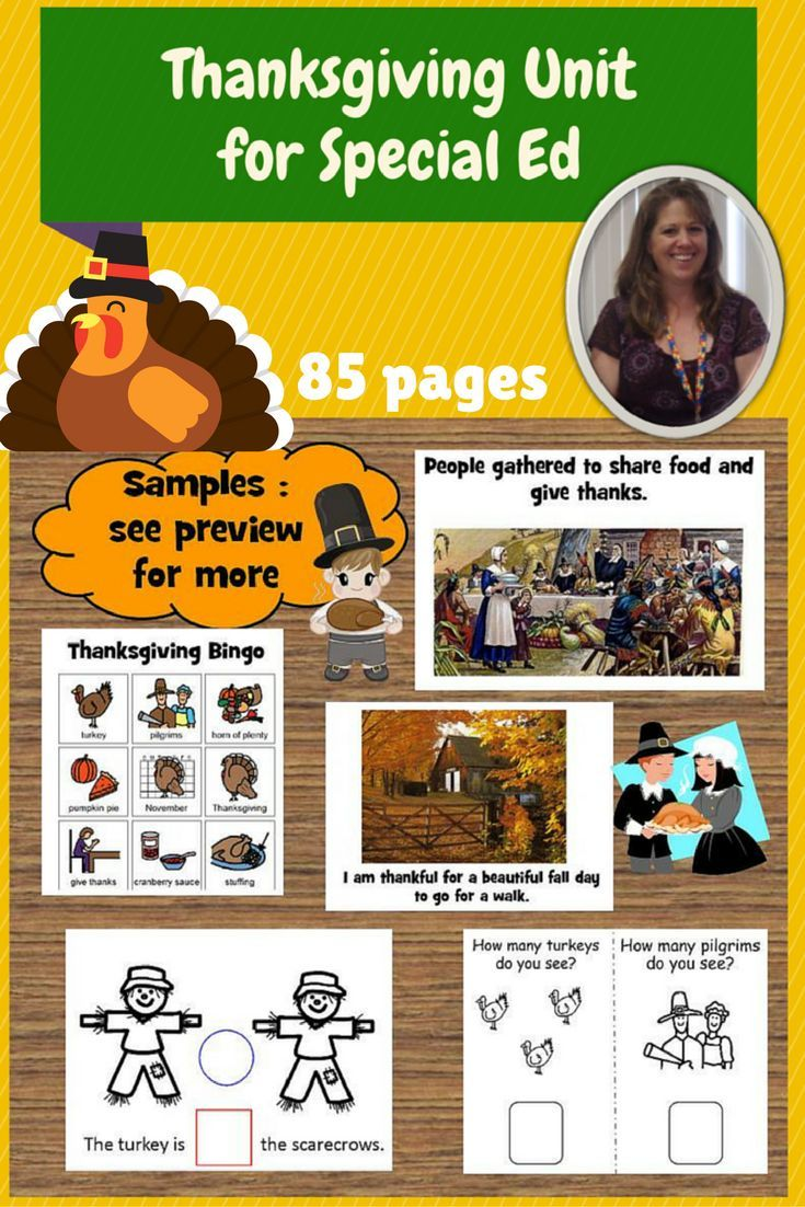 188 best thanksgiving and special education images on pinterest