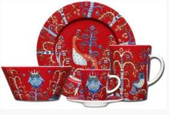 Mystical flora and Fauna design by Iittala is this stunning Taika dinnereware set. Red is out in Winter only so makes a great gift, also comes in Blue & White, your table will look very stylish with these.