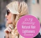 DIY Natural hair highlighters. lemon juice, beer, honey and other natural substitutes found on laurenconrad.com
