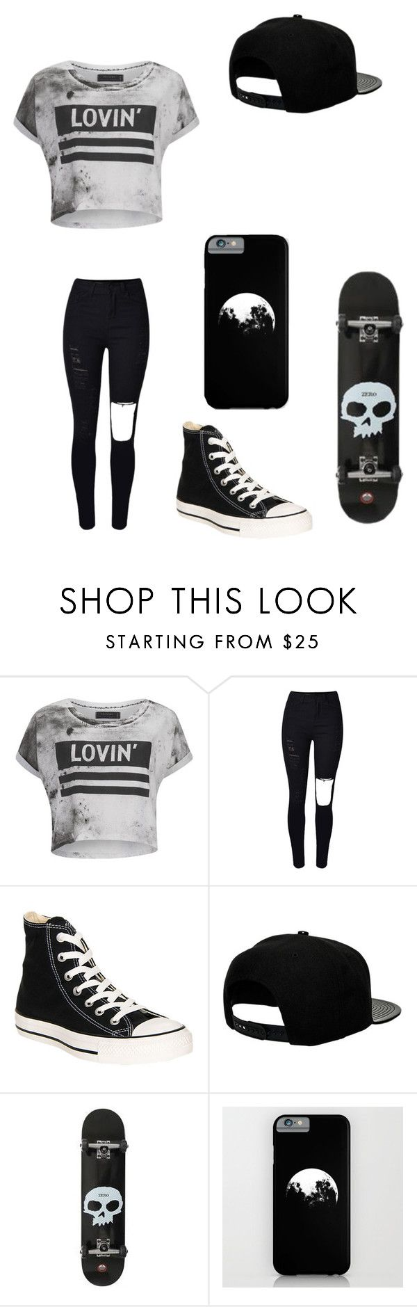 """Untitled #73"" by darksoul7 on Polyvore featuring Religion Clothing, Converse and '47 Brand"