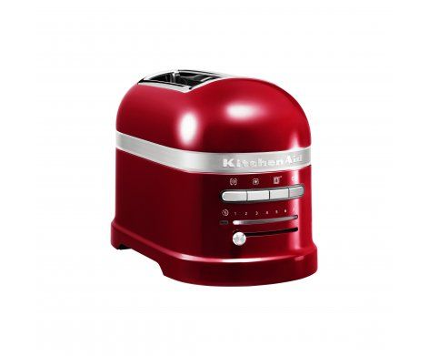 The KitchenAid Pro Line 2-Slice Automatic Toaster in Candy Apple.  Equipped with a host of smart features for effortless toasting.