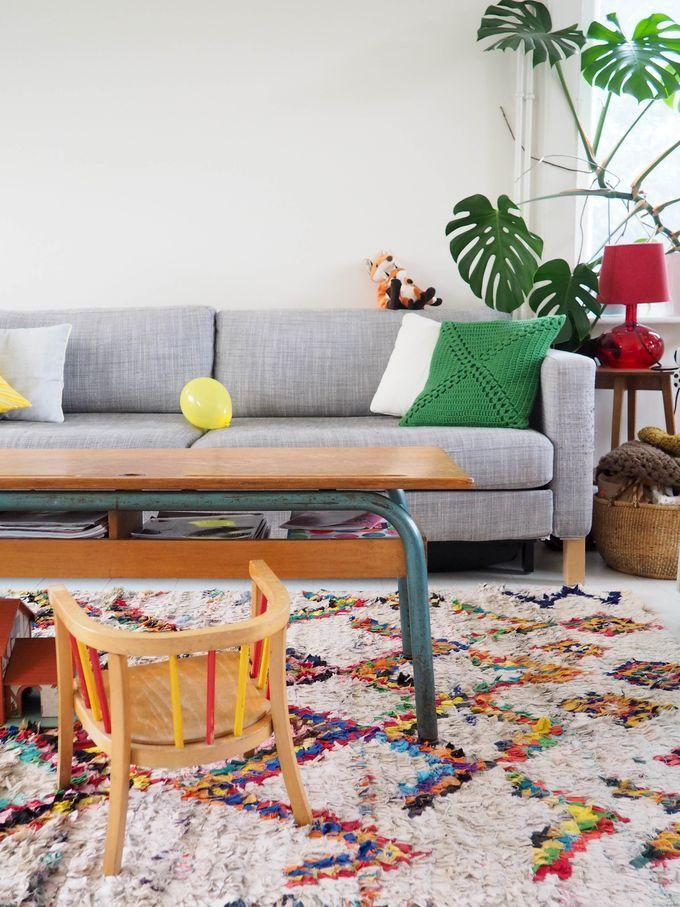 DIY: Une table d'école dans mon salon