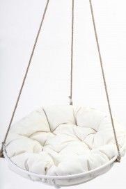 Cool Hanging Papasan Chair For Your Beloved Family: Cozy White Framed  Hangingu2026