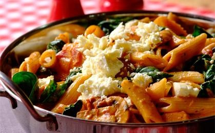 Sundried Tomato, Butternut & Baby Spinach Pasta