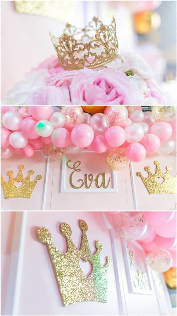 Pink And Gold Princess Party Decorations Princessparty Princesspartyideas Princesspartydecorations