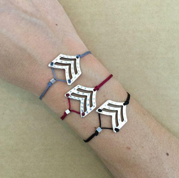 Silver/Gold Geometric Arrow Friendship Unisex by IzouBijoux