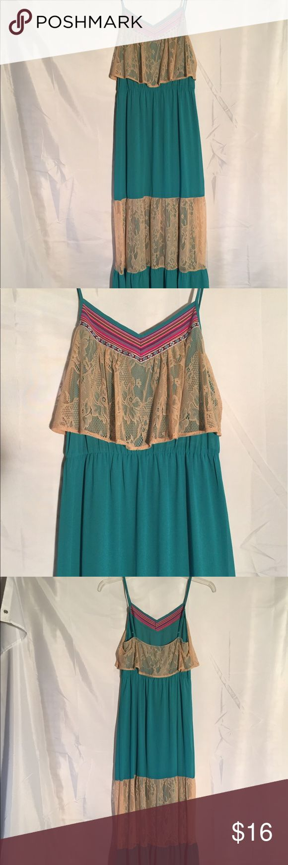 Flying Tomato teal maxi dress size M Flying Tomato teal maxi dress size M.   100% Polyester Flying Tomato Dresses Maxi