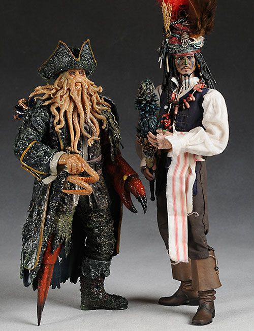 Cheap Hot Toys Figures | of the Caribbean Cannibal Jack Sparrow and Davy Jones action figures ...