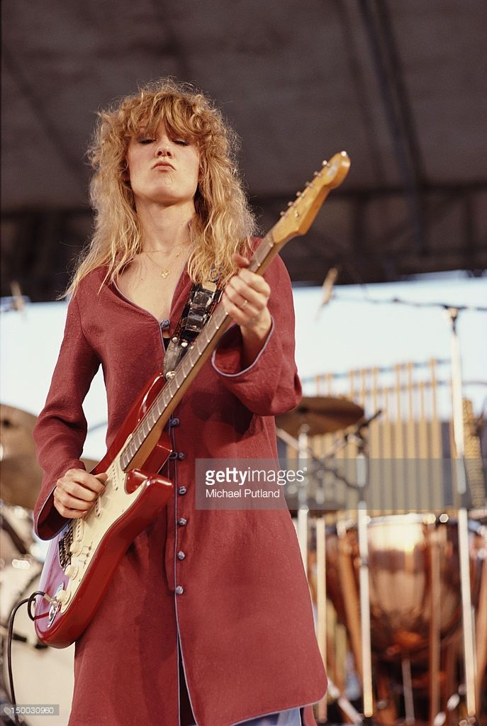 Singersongwriter Nancy Wilson performing with American rock group Heart circa 1985