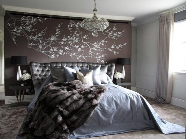 Какие модные обои для спальни