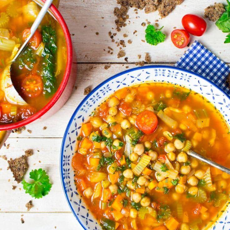Italienische Kichererbsen Suppe