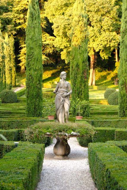 Verona Italy, Garden Giusti. I love formal Italian gardens - the symmetry is captivating. They remind me of long summer holidays