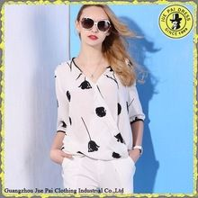 Australia Silk Chiffon Flower Printing Crop Female tee shirts best seller follow this link http://shopingayo.space