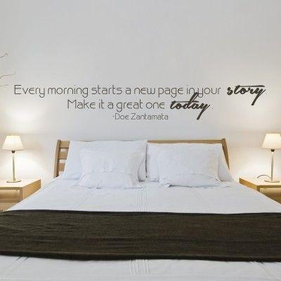 Adesivo murale every morning frasi motivazionali - Adesivi parete camera da letto ...