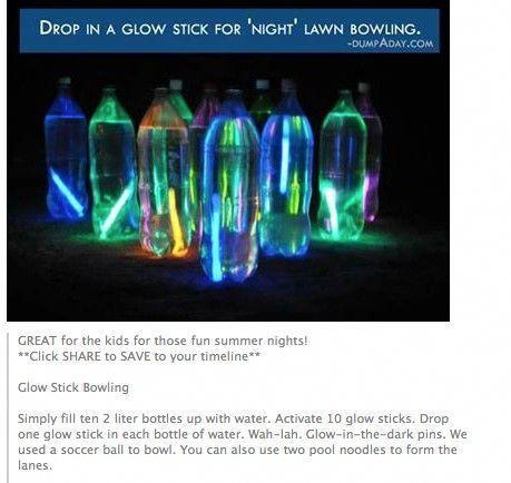 Glow stick photography #glowstickcampingidea