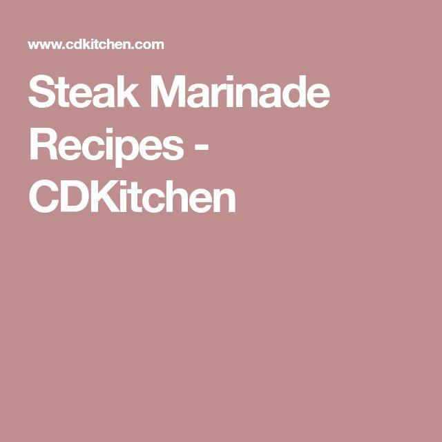 Steak Marinade Recipes - CDKitchen