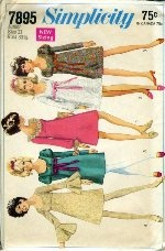 1960's I actually had this pattern and made the dresses!!  the pink one I made in green with a white ruffle  LOL