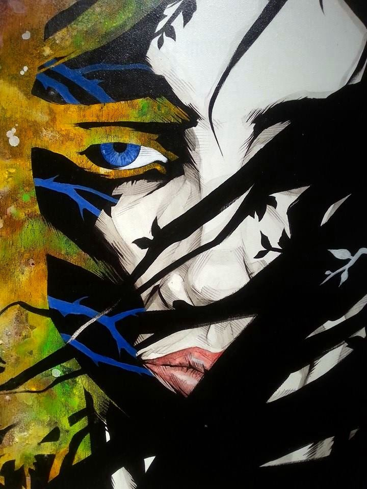 """"""" Di fogli e di rovo""""  –  tec. Mista su tela,  50 x 60 cm, 2014 (Artist: Fabio Govoni)"""