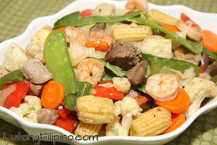 Learn how to make Chop Suey and other Filipino Recipes with our easy to follow, step-by-step instructions and images. From Lutong Filipino.