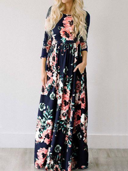 Ecstatic Harmony White Floral Print Maxi Dress