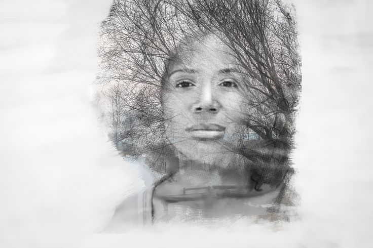 Double exposure Art. The perfect art black and white double exposure created for a client who want to print it and gift to his wife on his anniversary.
