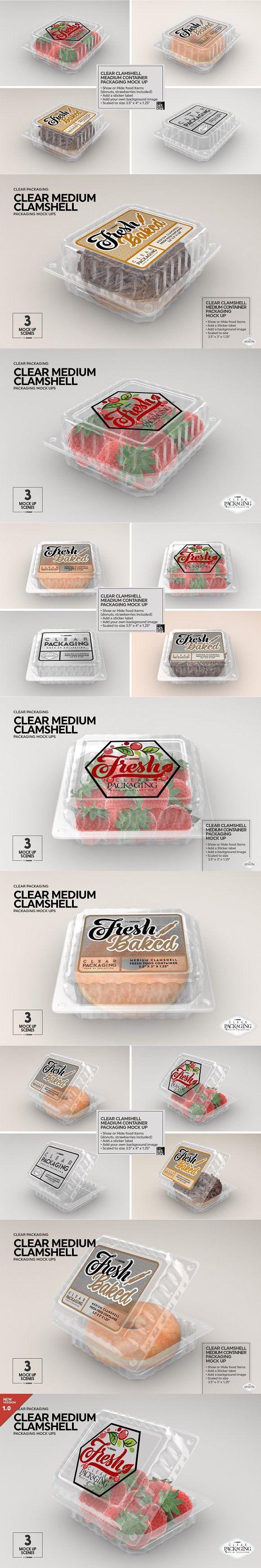 Download Medium Clamshell Packaging Mockup Food Mockup Clamshell Packaging Packaging Mockup