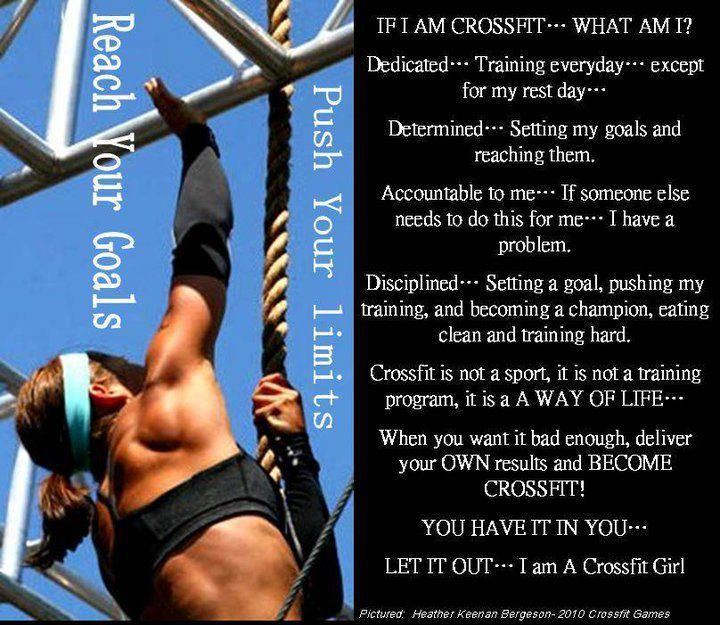 Become a Crossfit girl...be elite